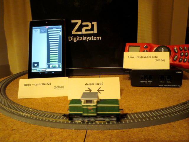 Z21 - testovní se zesilovačem