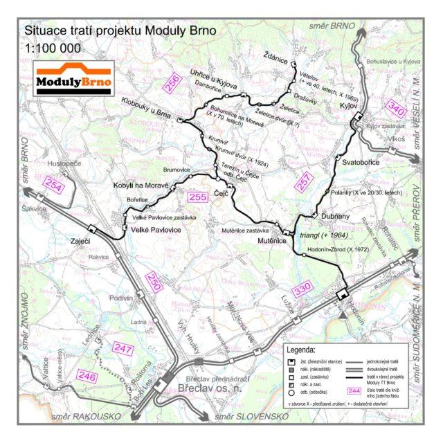 Boduly Brno - mapa